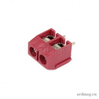 Клеммник K301-2P красный