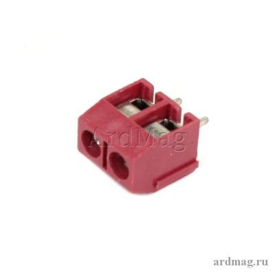 Клеммник KF301-2P, красный