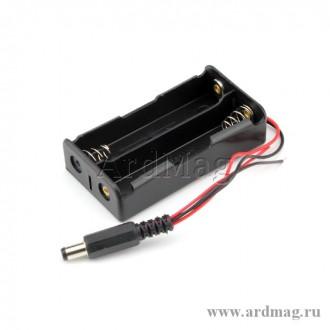 Батарейный отсек 2x18650 - DC 5.5*2.1мм
