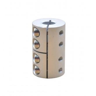 Компенсирующая алюминиевая соединительная муфта D25L40 6.35*8мм.