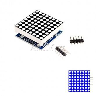 Светодиодная матрица 8х8 на базе MAX7219 SMD, синий