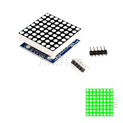 Светодиодная матрица 8х8 на базе MAX7219 SMD, зеленый