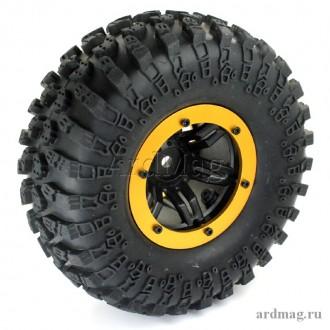 Комплект из 4 надувных колес 130мм, цвет золотой