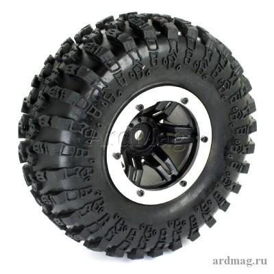 Комплект из 4 надувных колес 130мм, цвет серебро