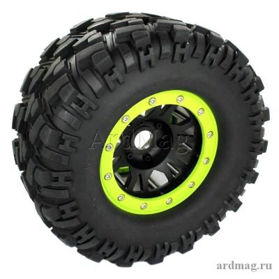 Комплект из 4 колес 166мм, цвет зеленый