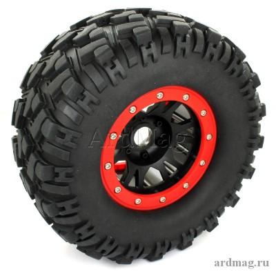 Комплект из 4 колес 166мм, цвет красный