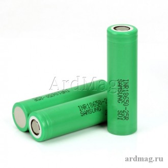 Аккумулятор 18650 Samsung 25R 20А, 2500мА