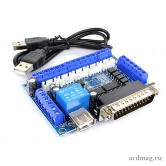 Контроллер MACH3 5 осей LPT